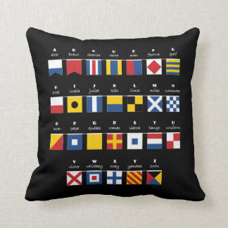 International Code of Signals Alphabet Cushion