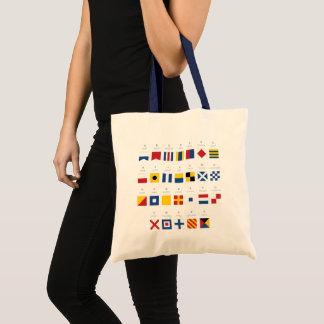 International Code of Signals Alphabet Tote Bag