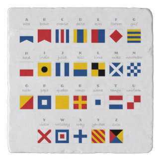 International Code of Signals Alphabet Trivet