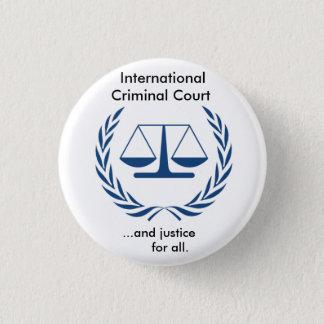 International Criminal Court Series 3 Cm Round Badge