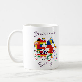 International cyclists basic white mug