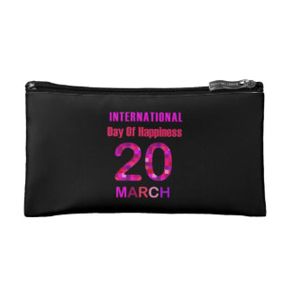 International Day of Happiness- Commemorative Day Cosmetic Bags