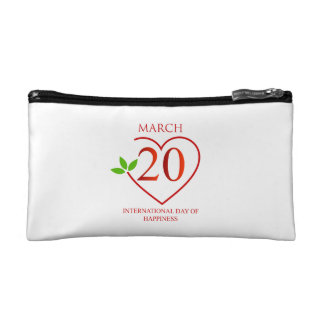 International Day of Happiness Cosmetic Bags