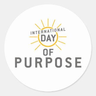 International Day of Purpose Stickers! Round Sticker