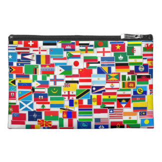 International Flags Pattern Travel Accessory Bags