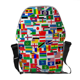 International Flags Pattern Courier Bags