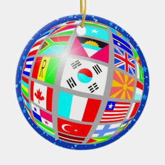 International Flags - SRF Christmas Ornament