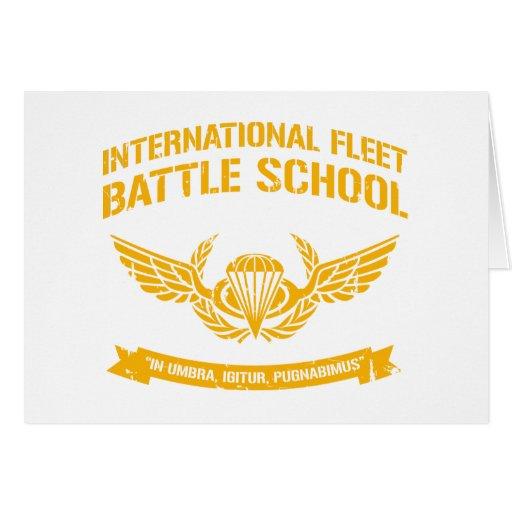 International Fleet Battle School Ender Greeting Cards