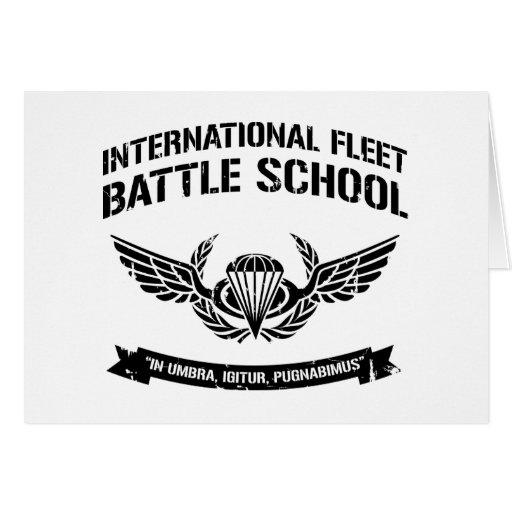 International Fleet Battle School Ender Greeting Card