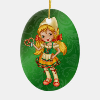 International - German Girl - SRF Christmas Ornament