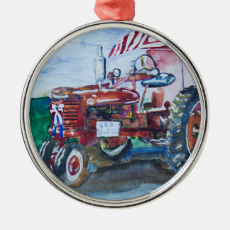 International Harvester Tractor Christmas Ornament