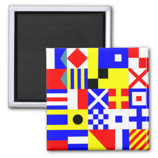 International Maritime Flags Square Magnet