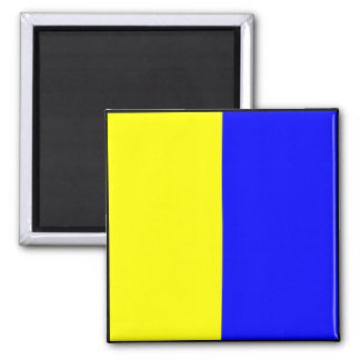 International maritime signal flag letter nautical square magnet