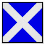 International maritime signal flag letter nautical print