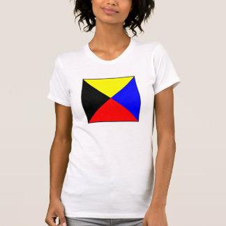 International maritime signal flag letter nautical shirt
