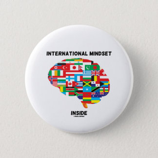 International Mindset Inside Intl Flags Brain 6 Cm Round Badge
