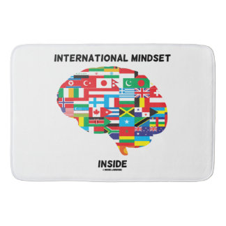 International Mindset Inside Intl Flags Brain Bath Mat