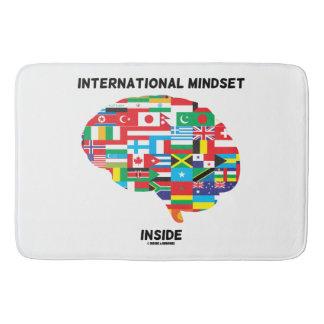 International Mindset Inside Intl Flags Brain Bath Mats