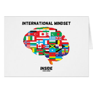 International Mindset Inside Intl Flags Brain Card
