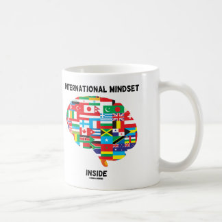 International Mindset Inside Intl Flags Brain Coffee Mug