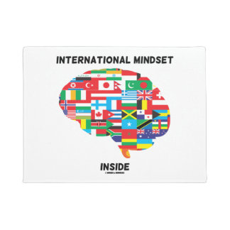 International Mindset Inside Intl Flags Brain Doormat