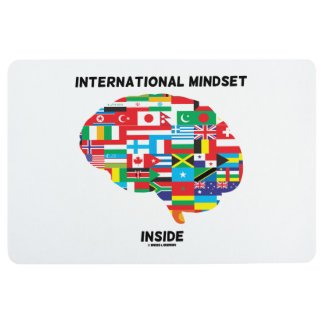 International Mindset Inside Intl Flags Brain Floor Mat