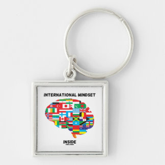 International Mindset Inside Intl Flags Brain Key Ring