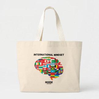 International Mindset Inside Intl Flags Brain Large Tote Bag