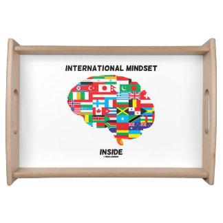 International Mindset Inside Intl Flags Brain Service Trays