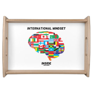 International Mindset Inside Intl Flags Brain Serving Tray