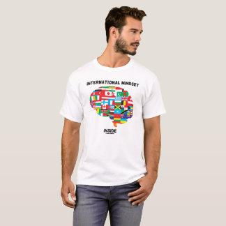 International Mindset Inside Intl Flags Brain T-Shirt
