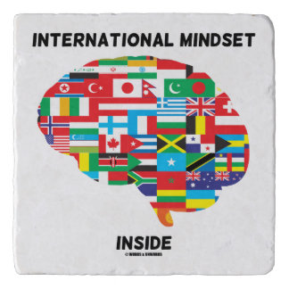 International Mindset Inside Intl Flags Brain Trivet