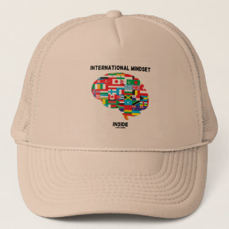International Mindset Inside Intl Flags Brain Trucker Hat