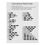 International Morse Code Poster