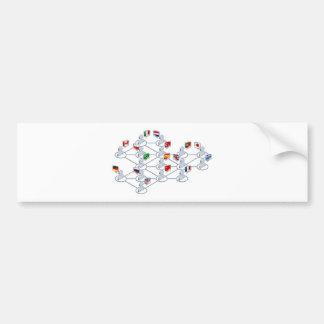 International network bumper stickers