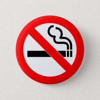 International official symbol no smoking sign 6 cm round badge