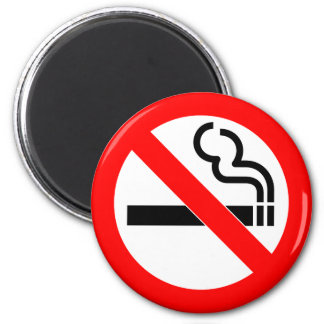 International official symbol no smoking sign 6 cm round magnet