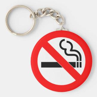 International official symbol no smoking sign basic round button key ring
