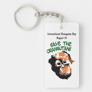 International Orangutan Day Key Ring