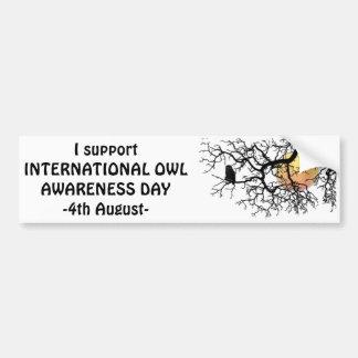 International Owl Day-4th August-Endangered Specie Bumper Sticker