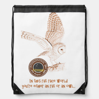 International Owl Day-4th August-Endangered Specie Drawstring Backpack