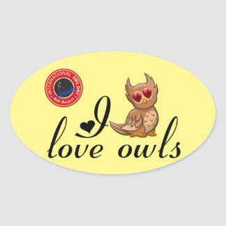 International Owl Day-4th August-Endangered Specie Oval Sticker