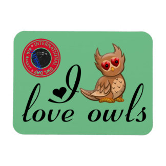 International Owl Day-4th August-Endangered Specie Rectangular Photo Magnet