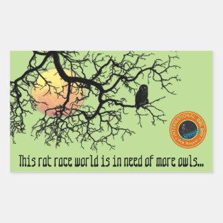 International Owl Day-4th August-Endangered Specie Rectangular Sticker