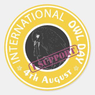 International Owl Day-4th August-Endangered Specie Round Sticker