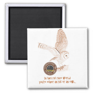 International Owl Day-4th August-Endangered Specie Square Magnet