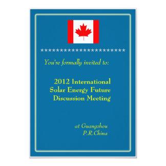 International, professional business meeting 13 cm x 18 cm invitation card