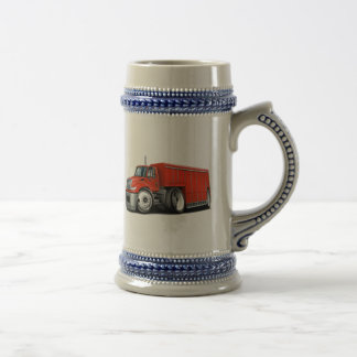 International Red Delivery Truck Beer Steins
