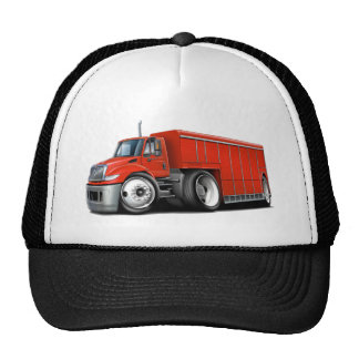 International Red Delivery Truck Cap
