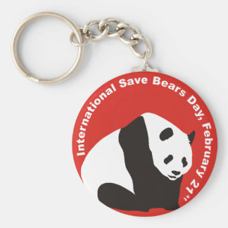 International Save Bears Day PANDA Key Chain